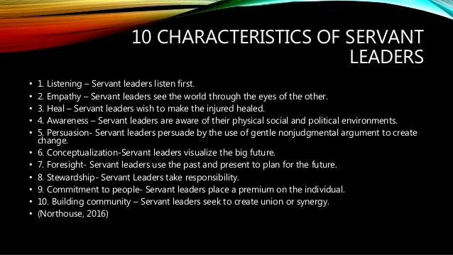 Characteristics of Servant Leaadership